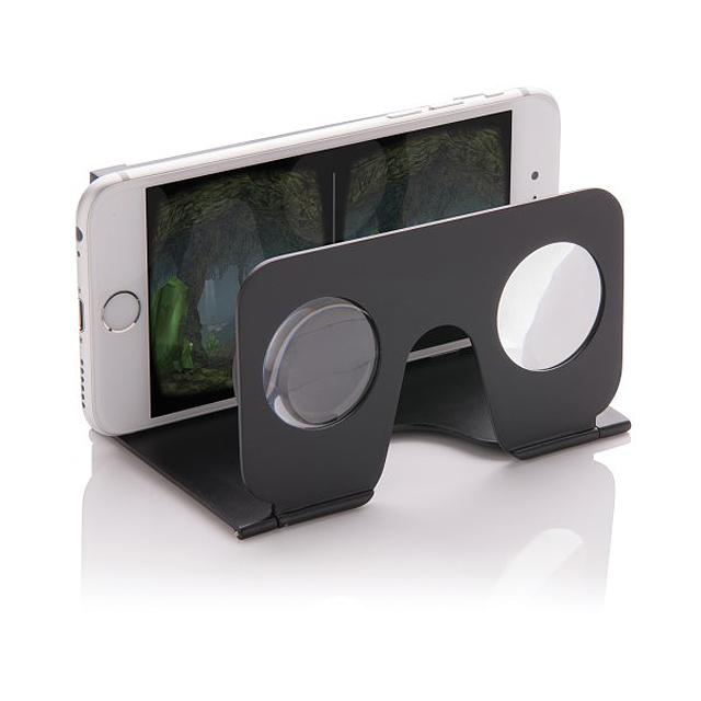 VR minibrýle, černá - černá