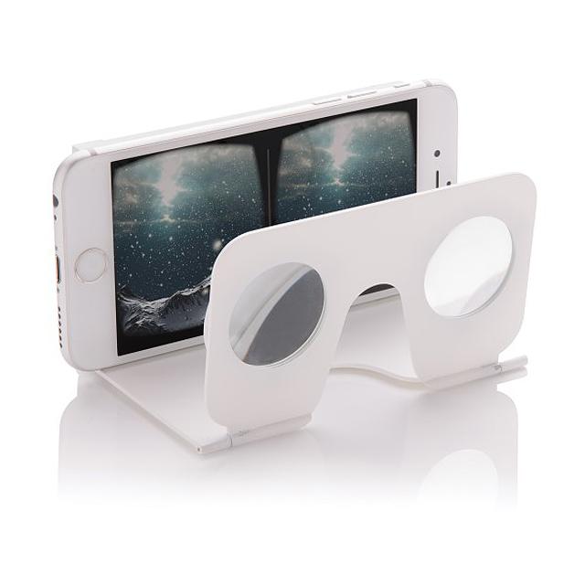 VR minibrýle, bílá - bílá