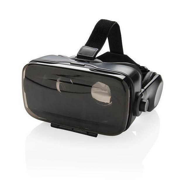 VR brýle s integrovanými sluchátky, černá - černá