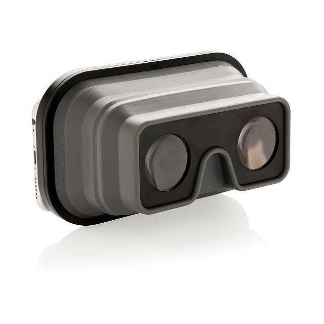 Foldable silicone VR glasses, black - black
