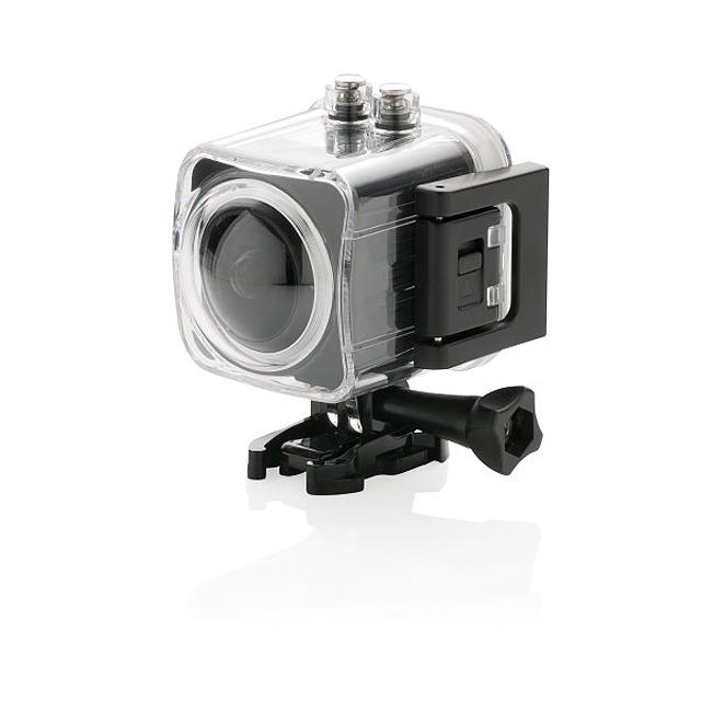 Akční 4K kamera s 360° zobrazením, černá - černá