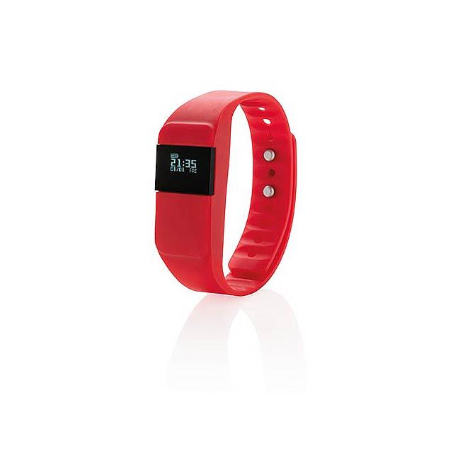 Monitor aktivity Keep fit, červená - červená