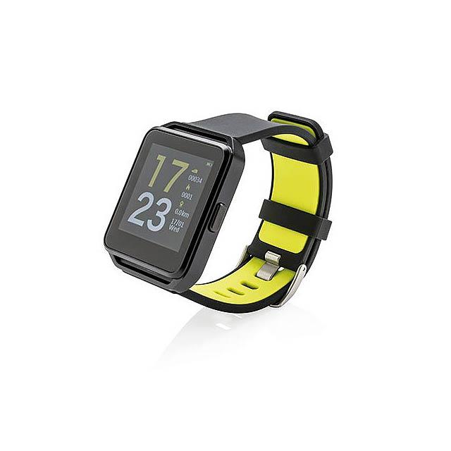 Sportovní chytré hodinky - černá