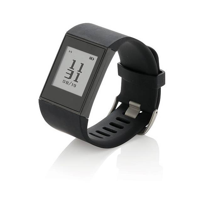 Multisportovní hodinky E-ink, černá - černá
