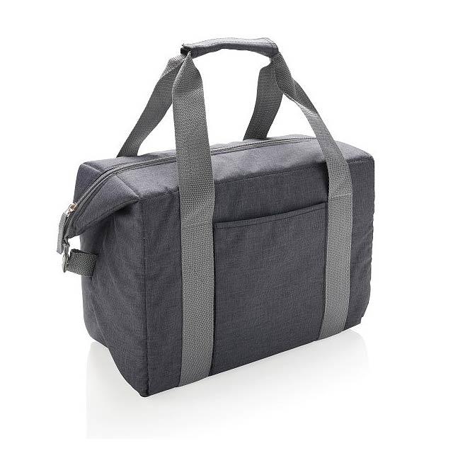 Nákupní a sportovní chladicí taška, šedá - černá