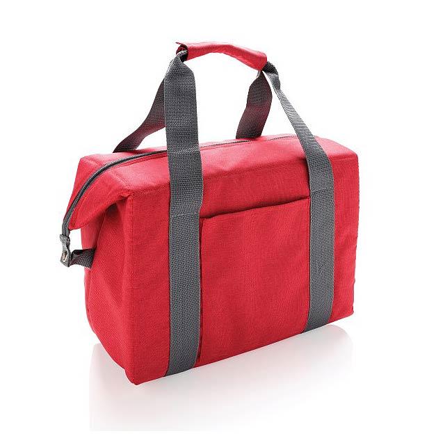 Nákupní a sportovní chladicí taška, červená - červená
