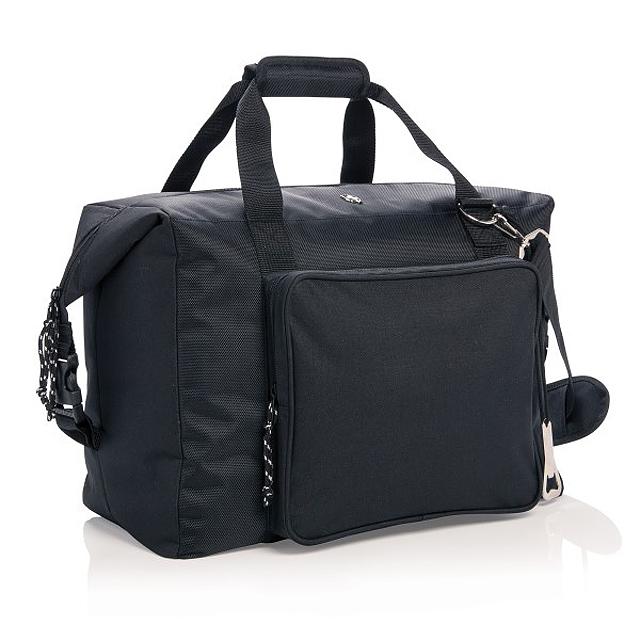 XXL nákupní a sportovní chladicí taška, černá - černá