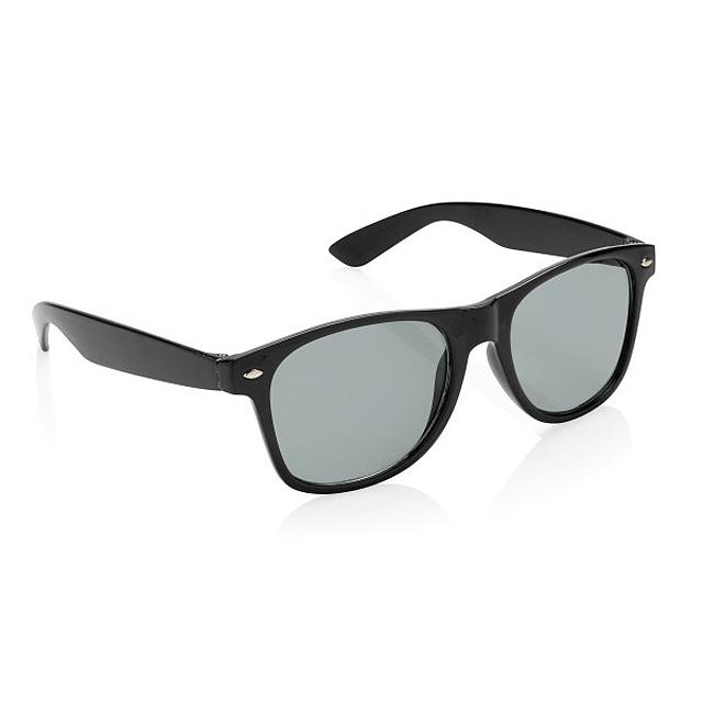 Módní sluneční brýle, černá - foto
