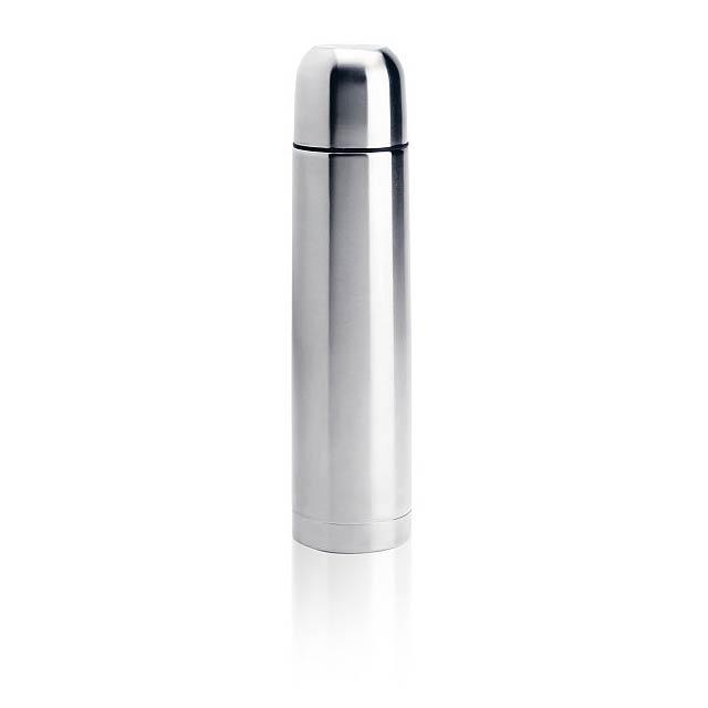 Nerezová termoska - stříbrná