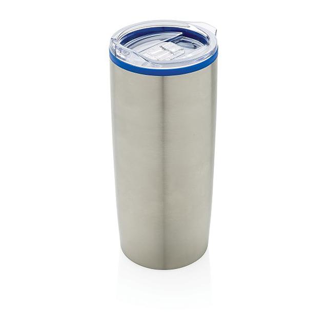 Moderní termohrnek s dvojitou stěnou, modrá - modrá