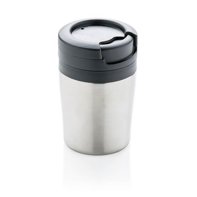Hrnek Coffee to go, stříbro - stříbrná