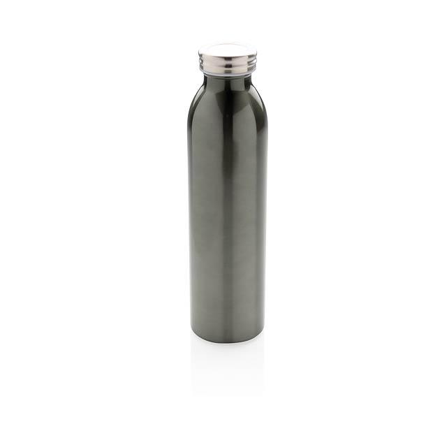 Nepropustná termo láhev s měděnou izolací - šedá