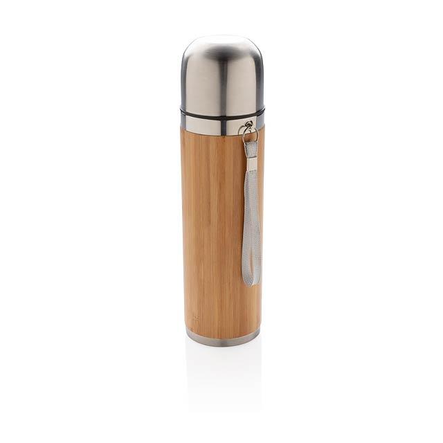 Bambusová termoska - hnědá