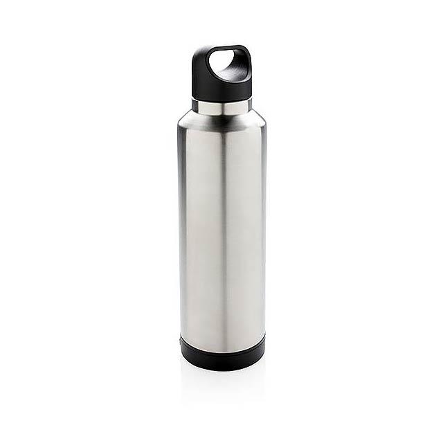 Termo láhev s bezdrátovým nabíjením - šedá