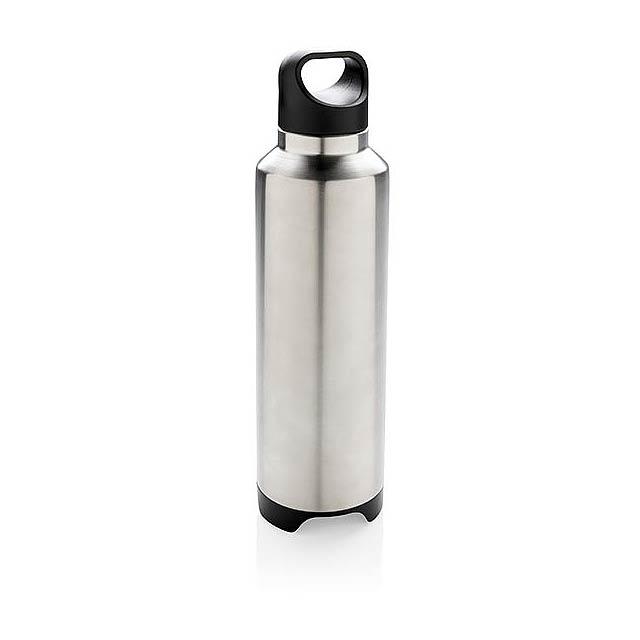 Termo láhev s bezdrátovým reproduktorem - šedá