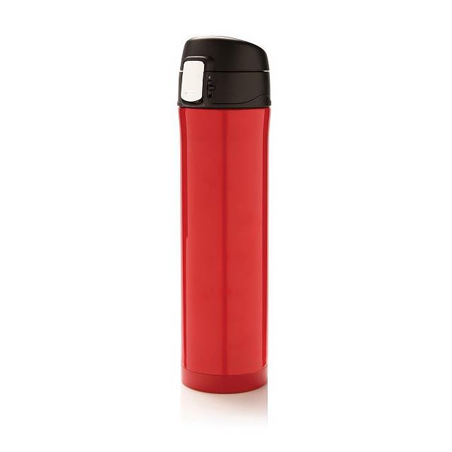 Easy lock termoska, červená - červená