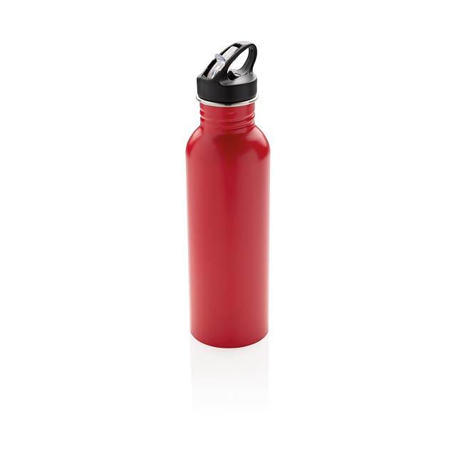 Sportovní láhev na vodu z nerezavějící oceli - červená