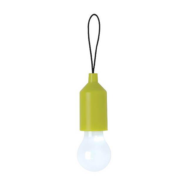 Klíčenka s žárovkou, zelená - zelená