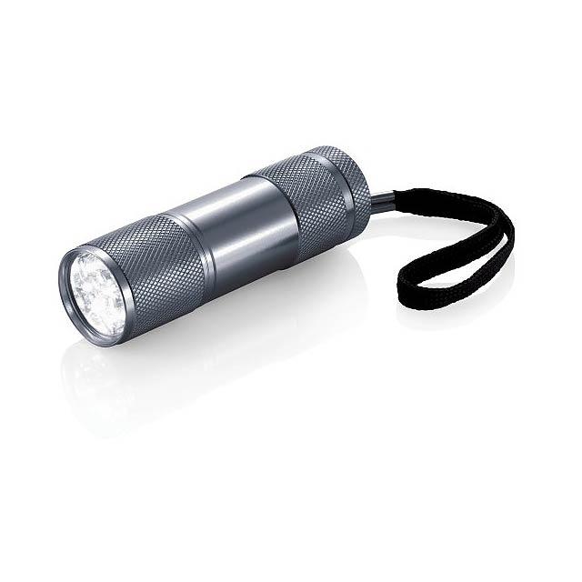 Hliníková svítilna Quattro - šedá