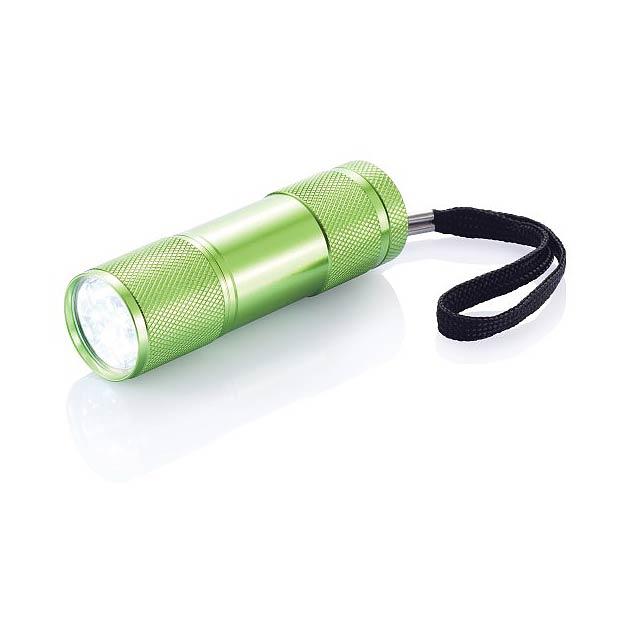 Hliníková svítilna Quattro - zelená