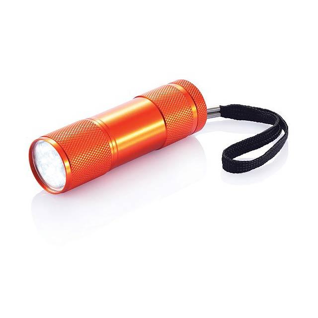 Hliníková svítilna Quattro - oranžová