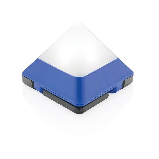 Trojúhelníková mini svítilna, modrá - modrá