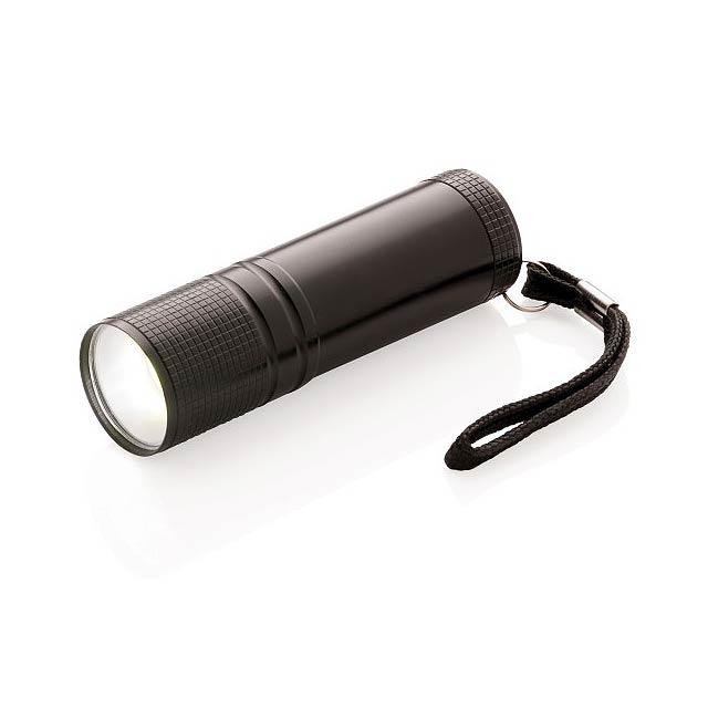 COB svítilna, černá - černá