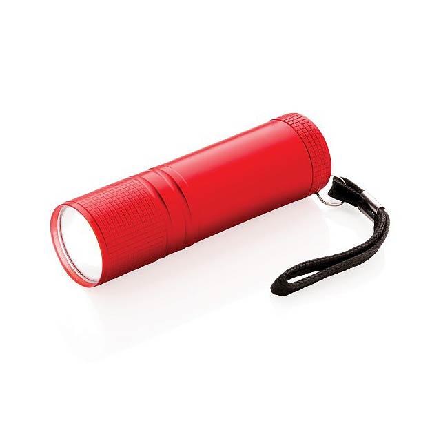 COB svítilna, červená - červená