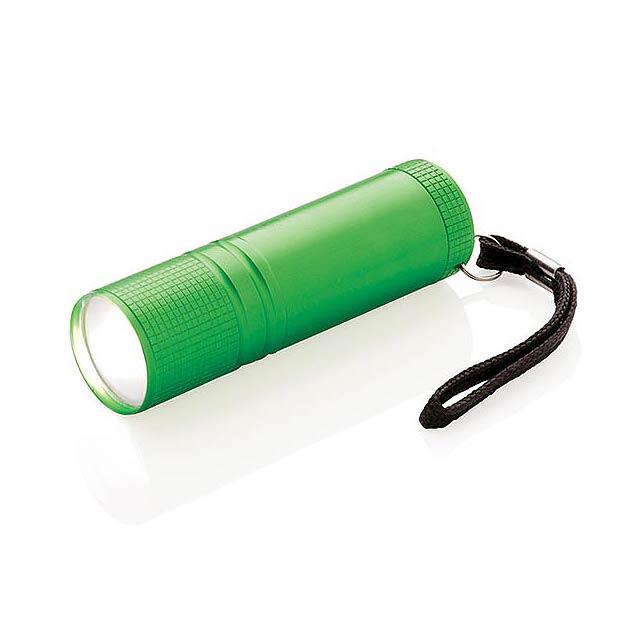 COB svítilna, zelená - zelená