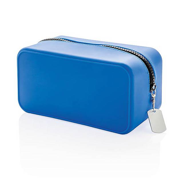 Nepropustná silikonová toaletní taštička - modrá