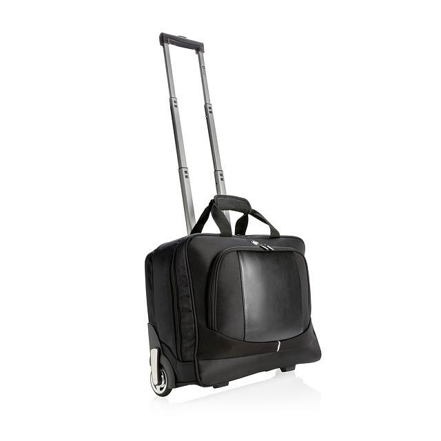Palubní kufřík na kolečkách - černá