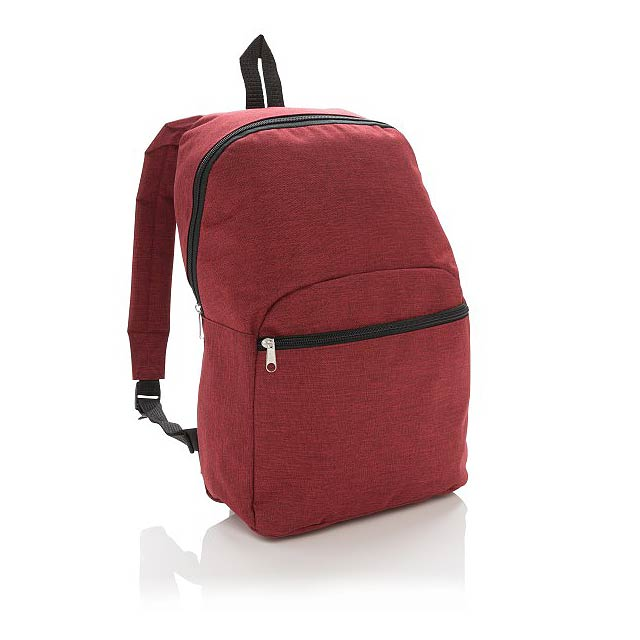 Základní dvoubarevný batoh, červená - červená