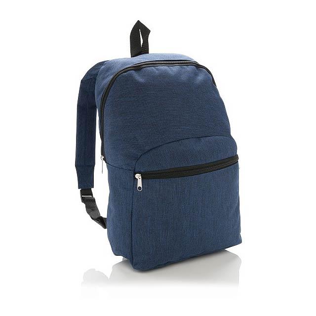 Základní dvoubarevný batoh, modrá - modrá