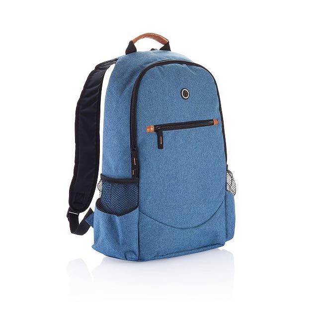 Trendy dvoutónový batoh, modrá - modrá