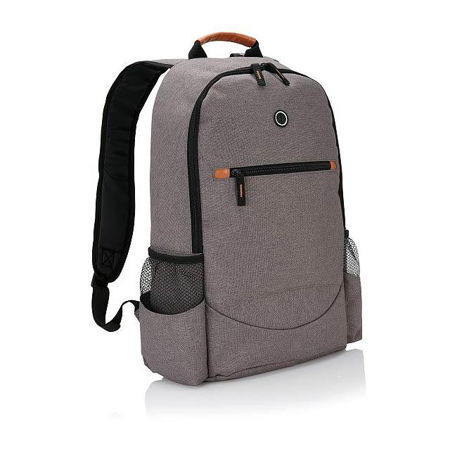 Trendy dvoutónový batoh, šedá - šedá