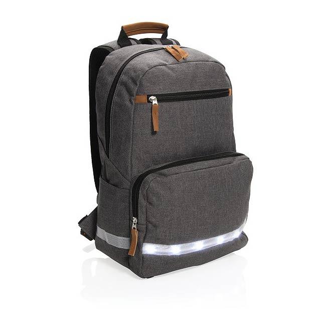 """Batoh s LED světlem na 13"""" notebook, šedá - šedá"""