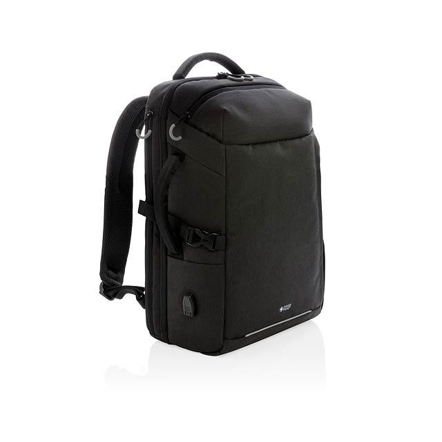 Swiss Peak XXL víkendový RFID USB batoh - černá