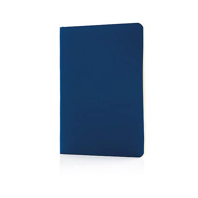Standardní poznámkový blok s měkkou vazbou - modrá