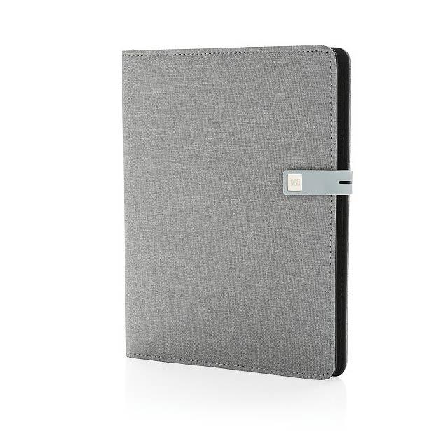 Kyoto poznámkový blok A5 s 16GB USB, šedá - šedá