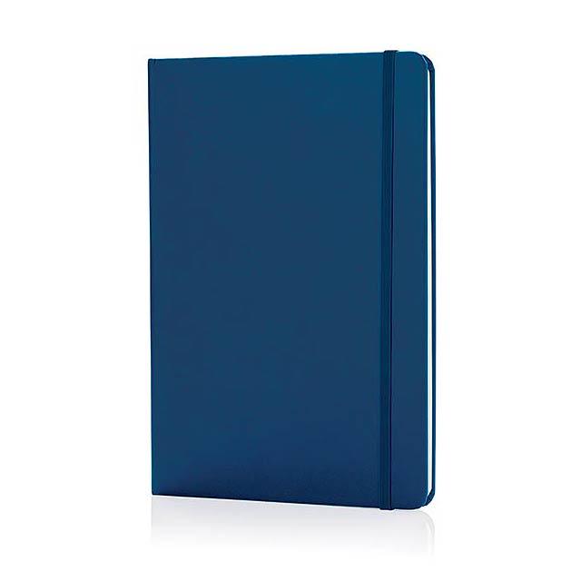 Základní poznámkový blok A5 spevnými deskami, modrá - modrá
