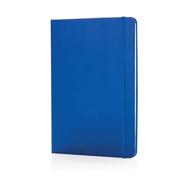 Základní poznámkový blok A5 s pevnými deskami a stylusovým p - modrá