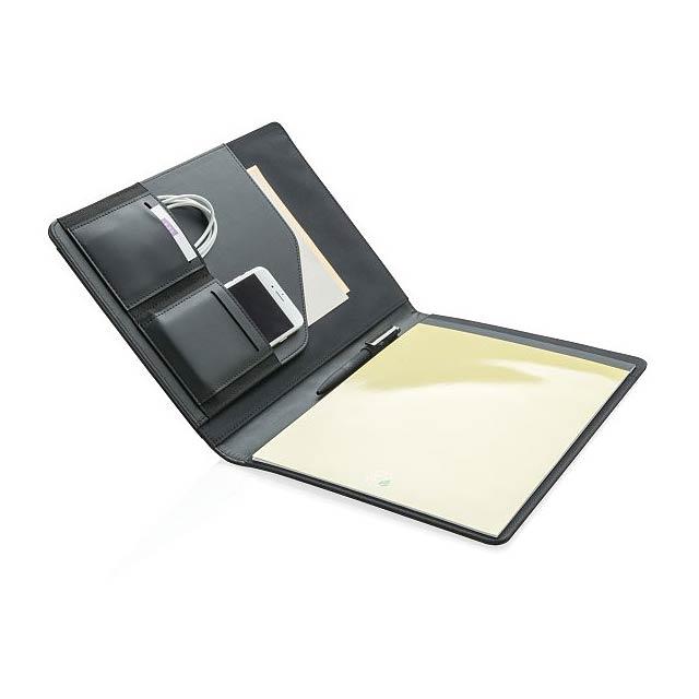 Portfolio A4 s chytrou kapsou, černá - černá