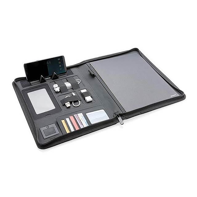 Portfolio A4 s bezdrátovou nabíječkou Air - černá