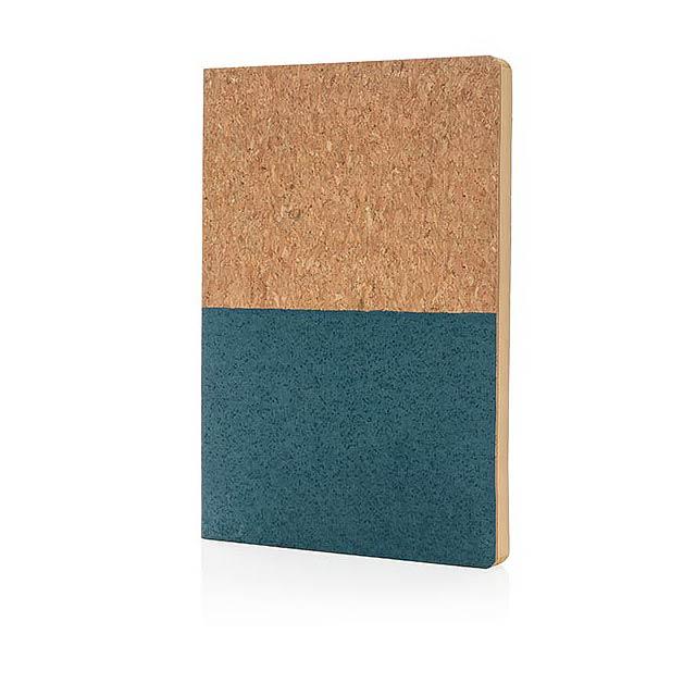 EKO korkový poznámkový blok - modrá