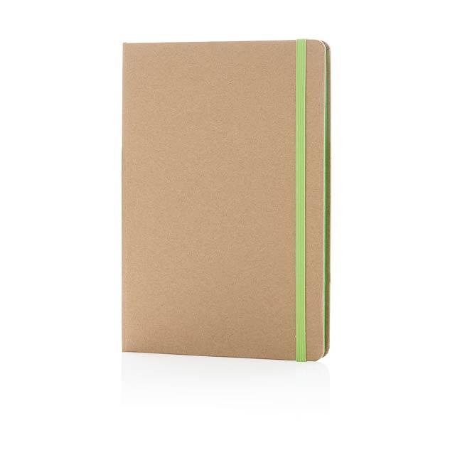EKO kraftový poznámkový blok A5 - zelená
