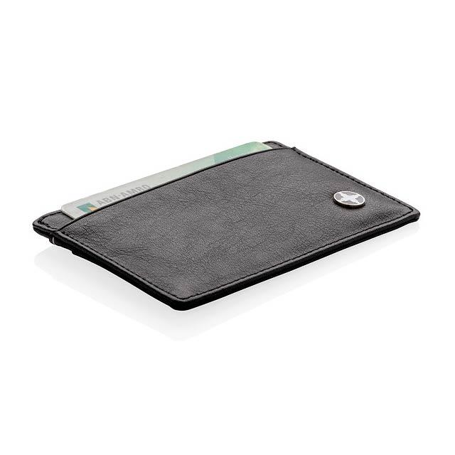 PU obal na karty s RFID ochranou - černá