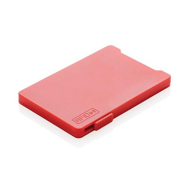 Pouzdro na více karet s RFID ochranou, červená - červená