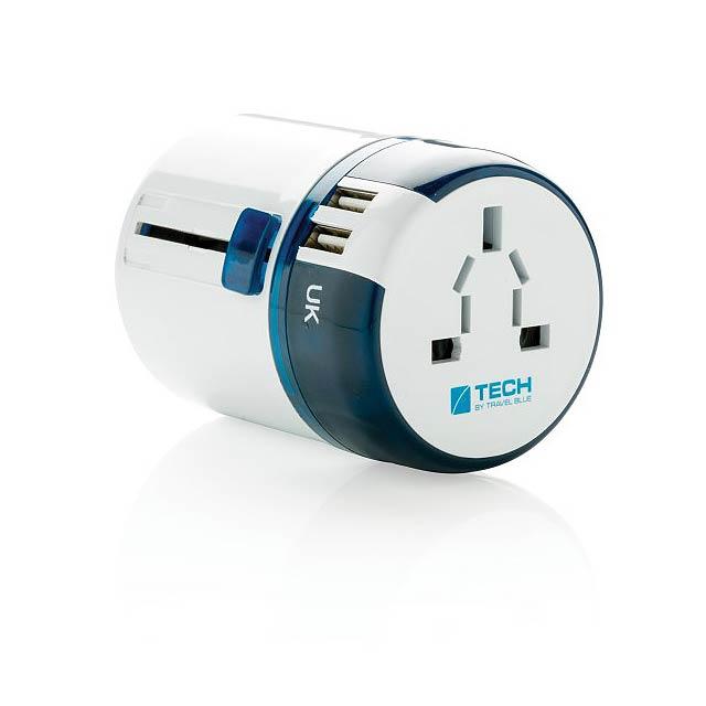 USB cestovní adaptér Travel Blue, bílá - bílá