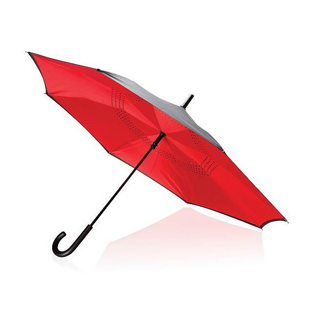 """23"""" manuální reverzní deštník, červená - červená"""