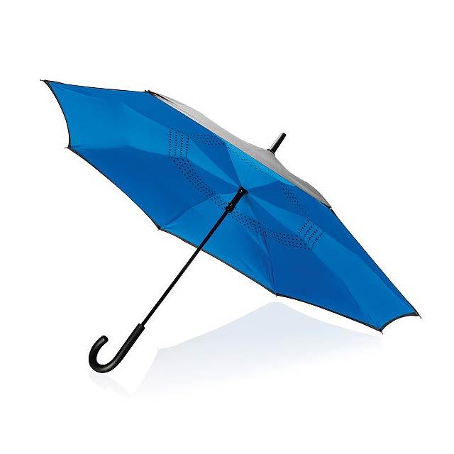 """23"""" manuální reverzní deštník, modrá - modrá"""